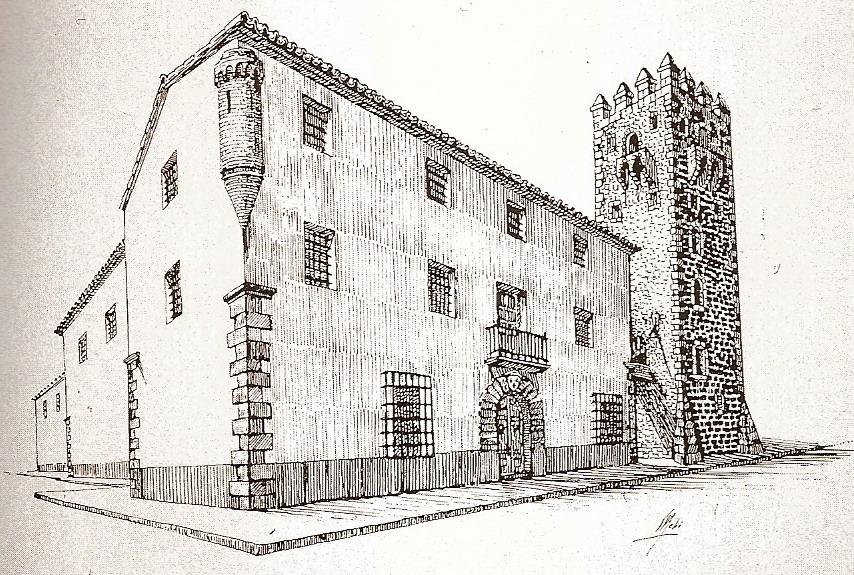Grabado de la Torre Medieval de Alcalalí - Alcalalí turismo