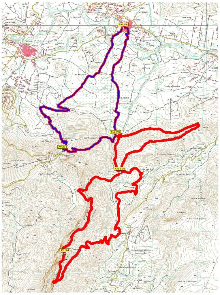 Recorrido de la Ruta Cresta Sierra del Ferrer - Alcalalí turismo
