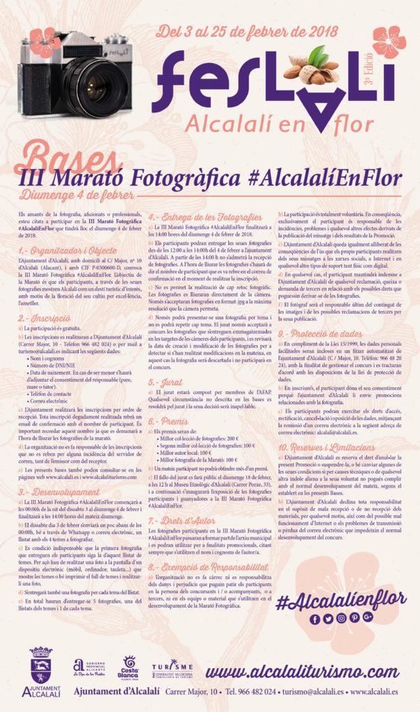 Bases III Marató Fotogràfica #AlcalalíEnFlor - Alcalalí turismo