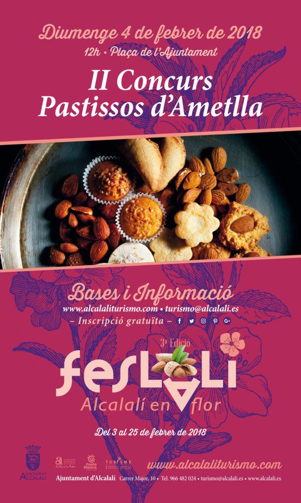 Cartel II Concurs de Pastissos d'Ametlla Feslalí - Alcalalí turismo