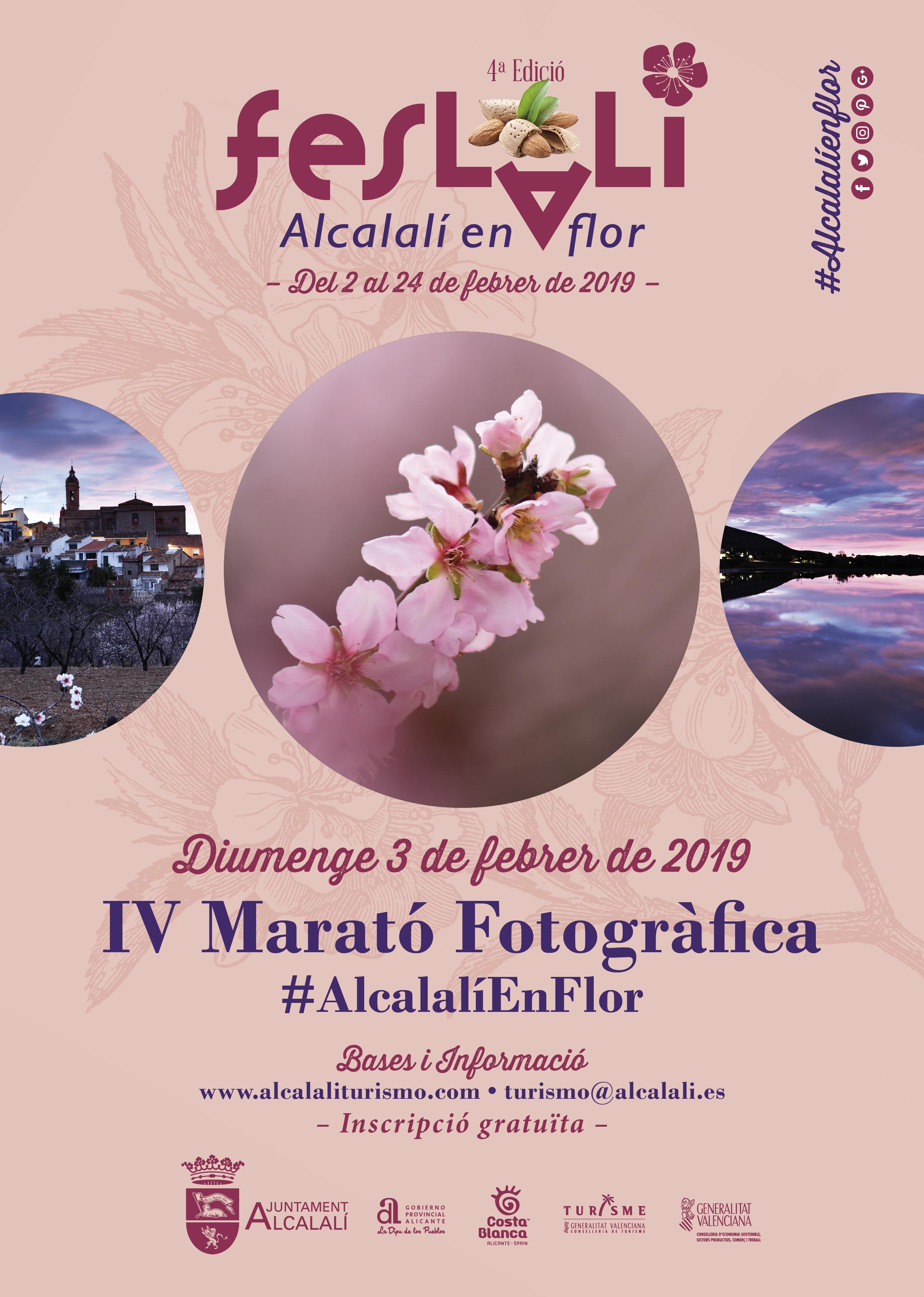 Feslalí, Alcalalí en Flor CARTELL 4ª Marató Fotogràfica