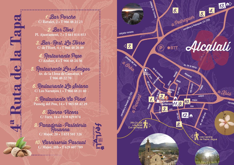 Ruta de la Tapa - Feslalí - Alcalalí en flor