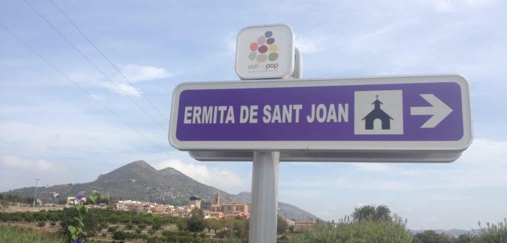 Señal Ermita de San Juan de Mosquera - Alcalalí turismo
